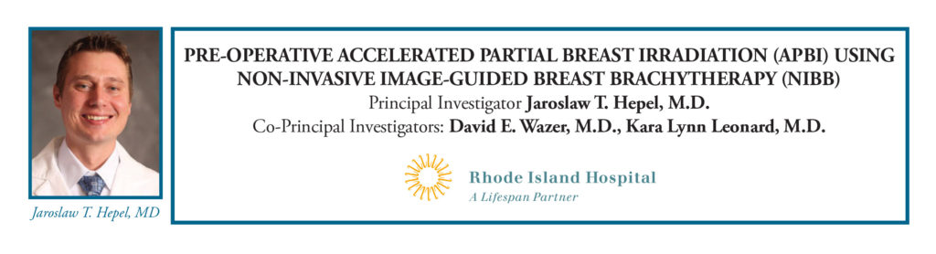 Rhode Island Hospital Pre-Operative Accelerated Partial Breast Irradiation
